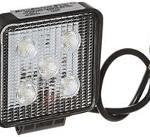 LED Work Light - 12/24V Square with Brackets