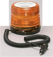 Strobe Light with Mag Mount and Cigarette Plug & Switch in Amber