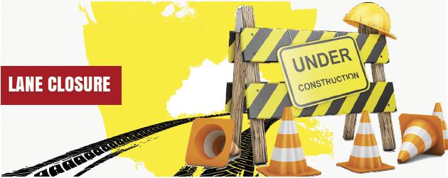 lane closure equipment